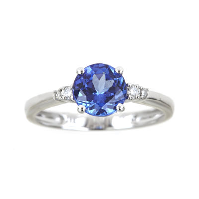 LIMITED QUANTITIES  Genuine Tanzanite and 1/10 CT. T.W. Diamond Ring