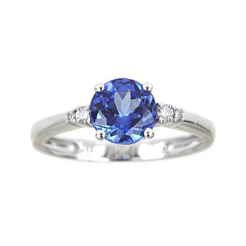 LIMITED QUANTITIES  Genuine Tanzanite and 1/10 CT. T.W. Diamond Ring