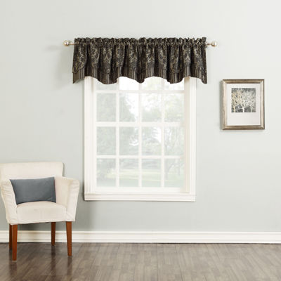 Versailles Double-Layer Shaped Rod-Pocket Valance