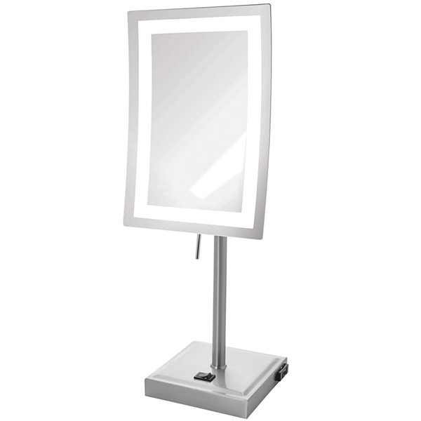 Jerdon Style LED-Lighted Rectangular Tabletop Mirror