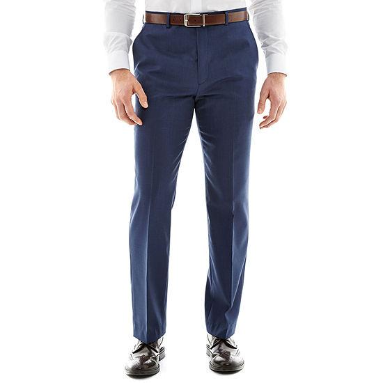 Stafford® Travel Medium Blue Stretch Suit Pants - Classic Fit