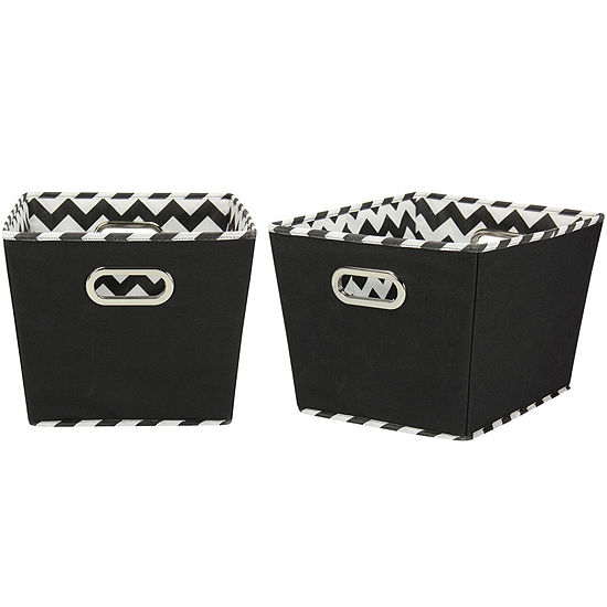 Household Essentials Set Of 2 Medium Tapered Storage Bins