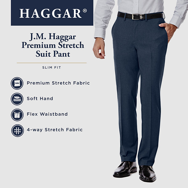 J.M. Haggar 4-Way Stretch Slim Fit Suit Pants