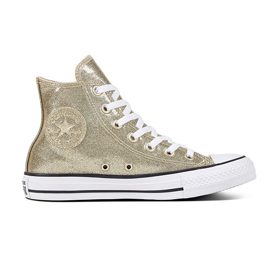 newest e71a9 73113 Converse Chuck Taylrom All Star High-Top Womens Glitter Sneakers - JCPenney
