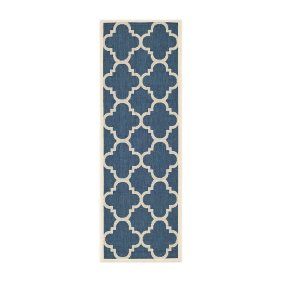 Safavieh Courtyard Collection Gina Geometric Indoor/Outdoor Runner Rug