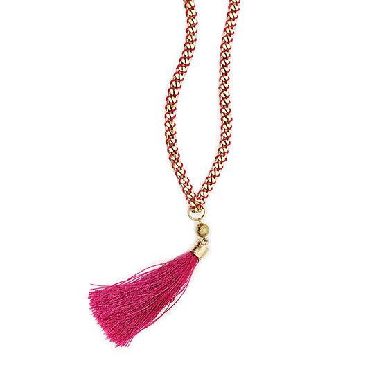 Bijoux Bar 30 Inch Curb Pendant Necklace