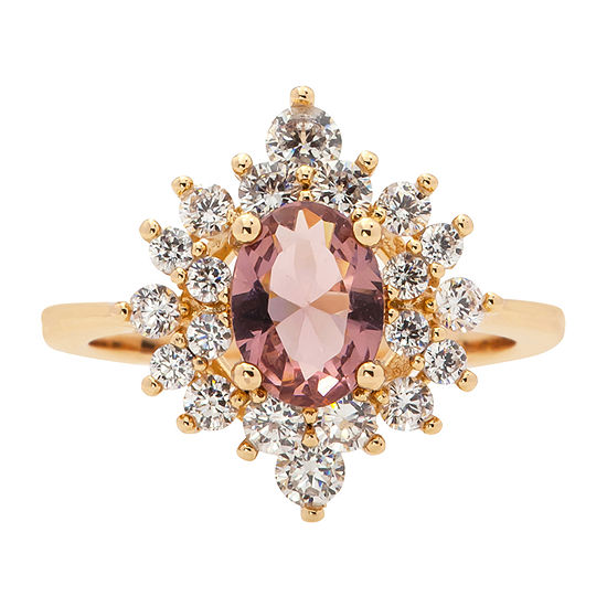 Sparkle Allure Pink Cubic Zirconia Oval