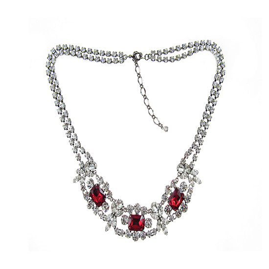 Vieste Rosa Red 18 Inch Statement Necklace