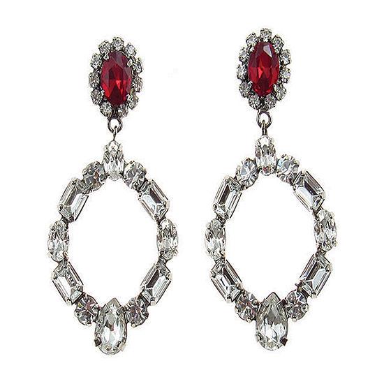 Vieste Rosa Red Drop Earrings