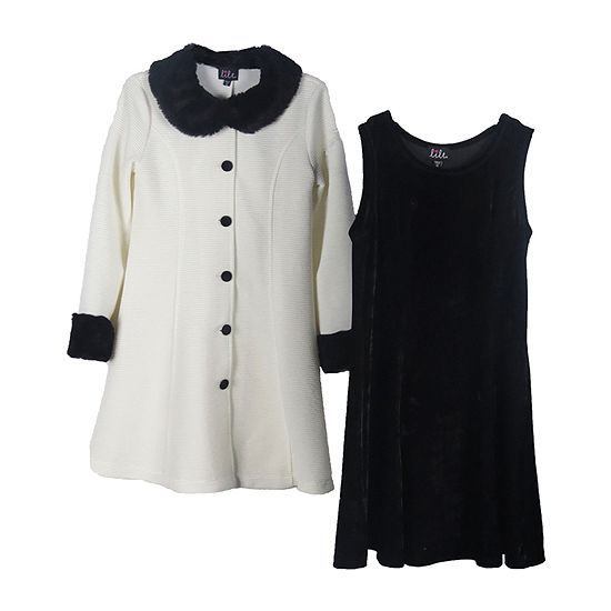 Lilt Little & Big Girls 2-pc. Jacket Dress