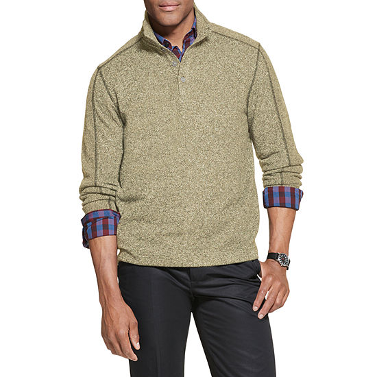 Van Heusen Flex Mens Long Sleeve Mock Neck Top
