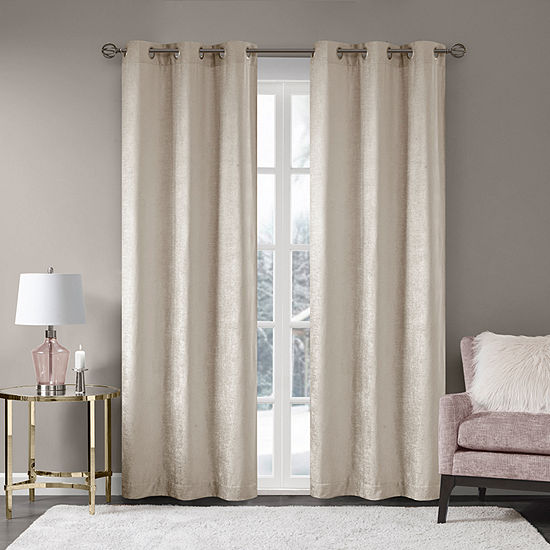 Madison Park Julian Light-Filtering Grommet-Top Curtain Panel