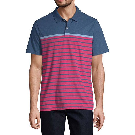 St. John's Bay Everyday Mens Short Sleeve Polo Shirt