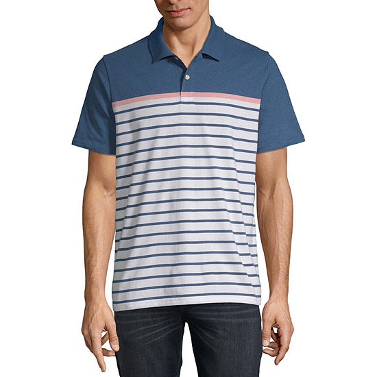 St. John's Bay Everyday Mens Short Sleeve Polo Shirt