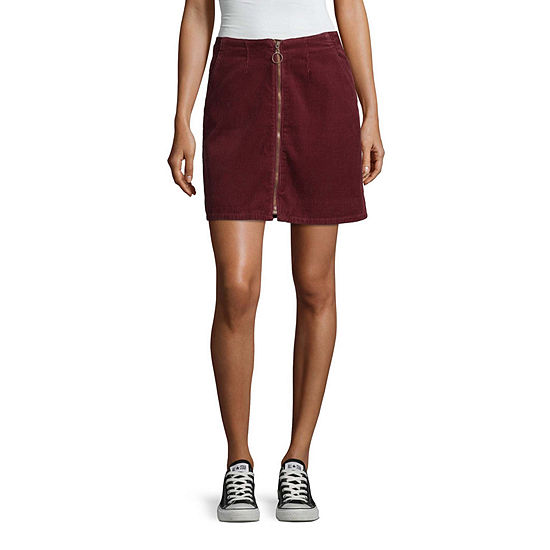 Arizona Womens Short A-Line Skirt-Juniors