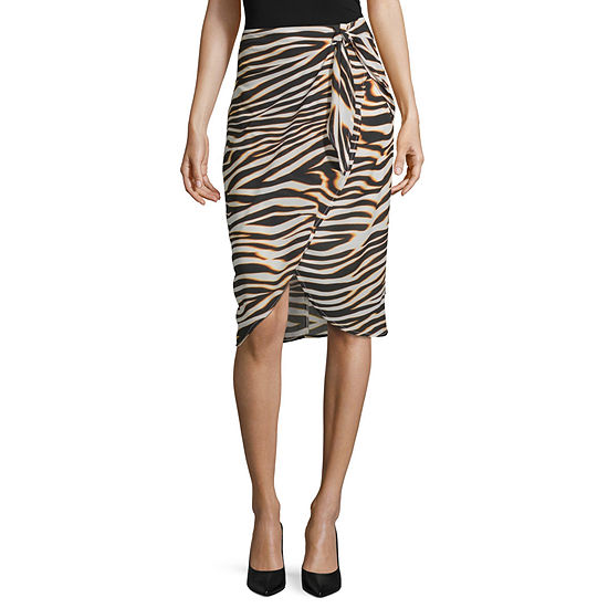 Worthington Womens Wrap Skirt