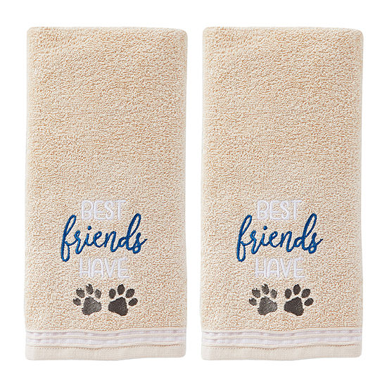 Saturday Knight Best Friends 2-pc.Hand Towel Set