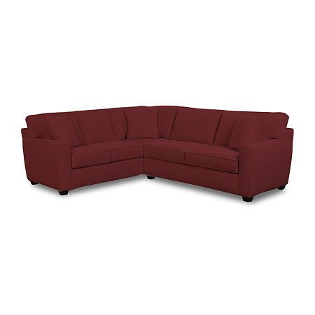 Fabric Possibilities Shark Fin 2-Pc Right Arm Sofa Sectional, One Size , Red