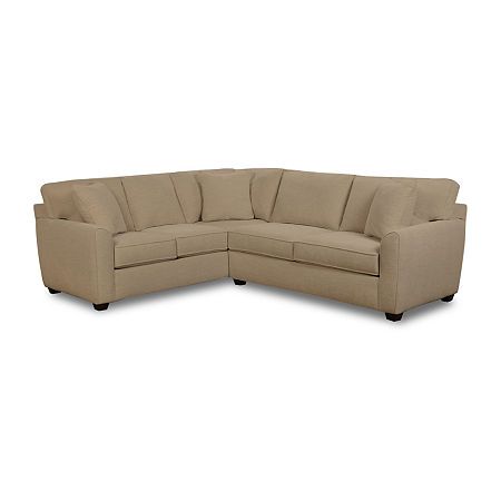 Fabric Possibilities Shark Fin 2-Pc Right Arm Sofa Sectional, One Size , Brown