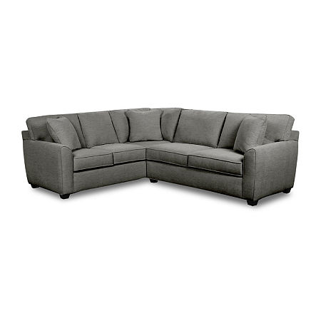 Fabric Possibilities Shark Fin 2-Pc Right Arm Sofa Sectional, One Size , Gray