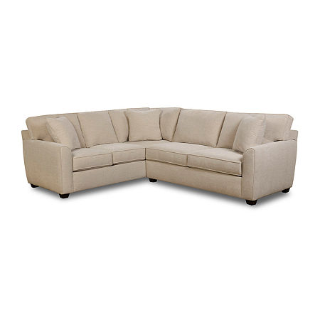 Fabric Possibilities Shark Fin 2-Pc Right Arm Sofa Sectional, One Size , Beige