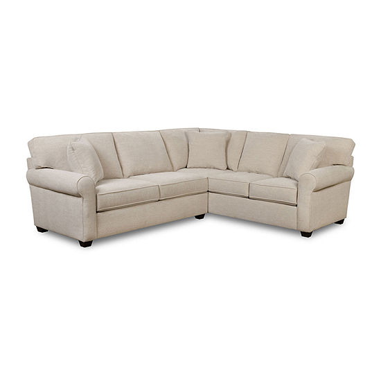Fabric Possibilities Roll Arm 2-Pc Left Arm Sofa Sectional
