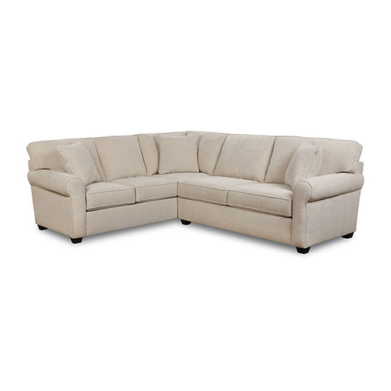 Fabric Possibilities Roll Arm 2-Piece Right Arm Sofa Sectional