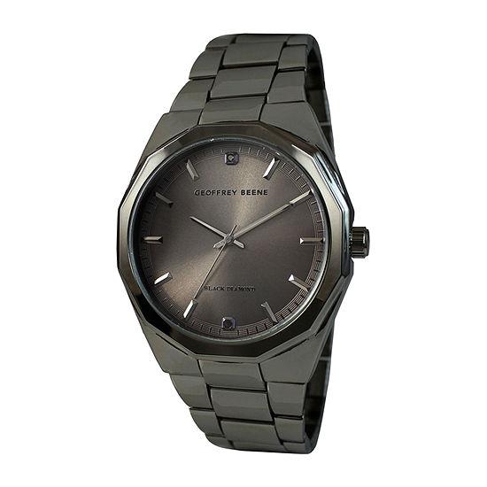 Geoffrey Beene Genuine Black Diamond Accent Mens Bracelet Watch-Gb8138gu