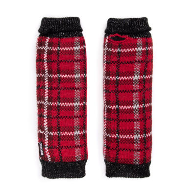 Muk Luks Plaid Arm Warmers