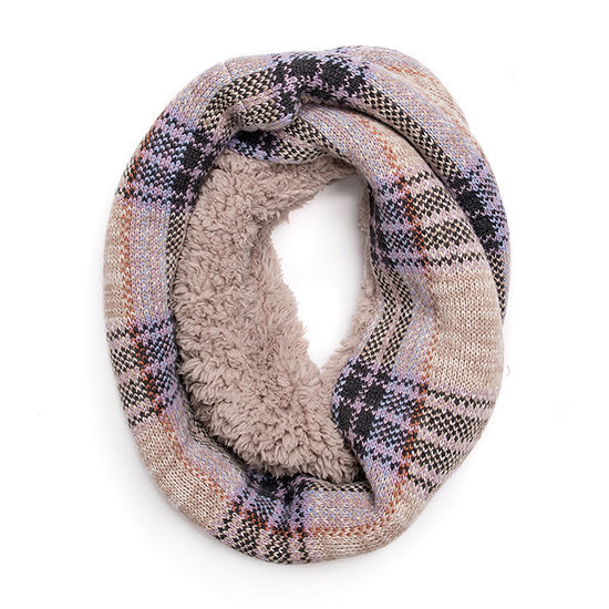 Muk Luks Plaid Infinity Cold Weather Scarf