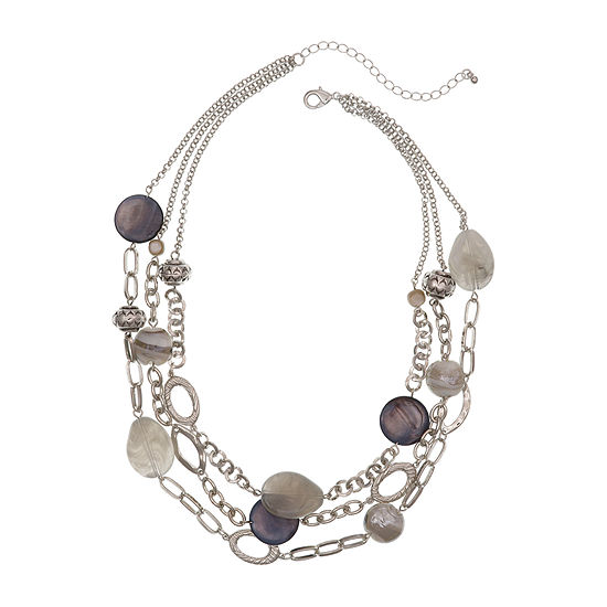 Mixit Gray 18 Inch Cable Beaded Necklace