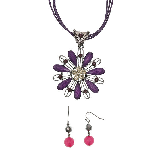 Mixit Boxed 2-pc. Flower Jewelry Set