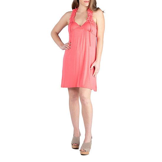 24/7 Comfort Dresses Ruffle Halter Summer Dress