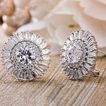 Inspired By You White Cubic Zirconia Sterling Silver 20.8mm Stud Earrings