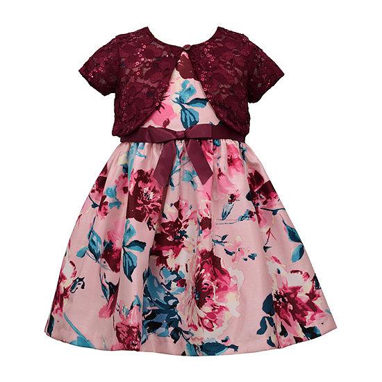 Bonnie Jean Girls Sleeveless Dress Set - Toddler