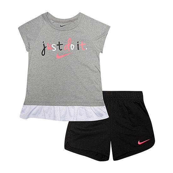 Nike Little Girls 2-pc. Short Set