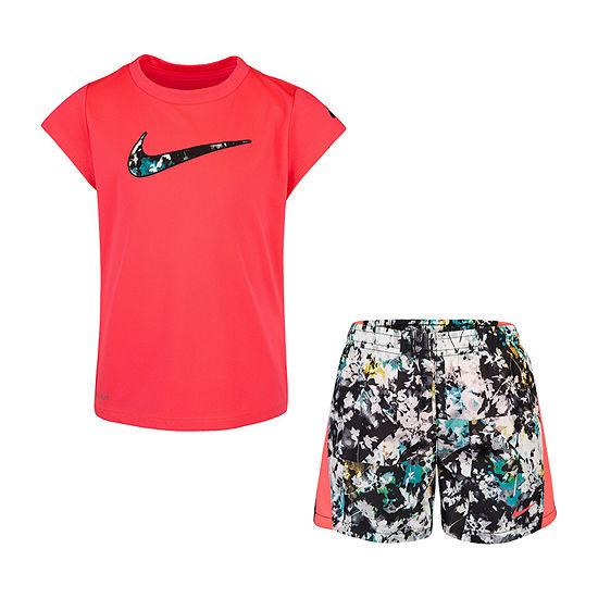 Nike Girls 2-pc. Short Set Preschool