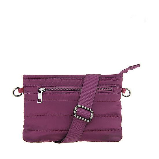 Olivia Miller Quilted Nylon Crossbody Bag