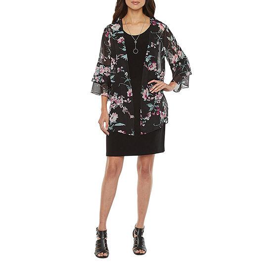 Alyx 3/4 Sleeve Jacket Dress - Petite
