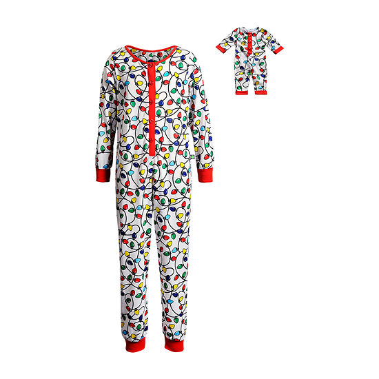 Dollie And Me Little & Big Girls Knit One Piece Pajama