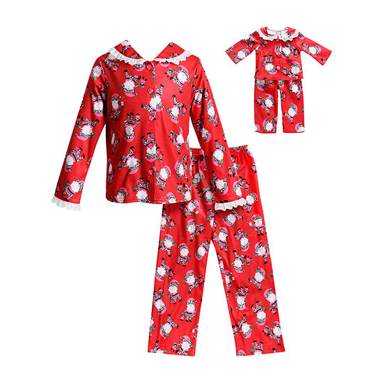 Dollie And Me Little & Big Girls 2-pc. Pant Pajama Set