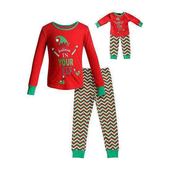 Dollie And Me Little & Big Girls 2-pc. Pant Pajama Set