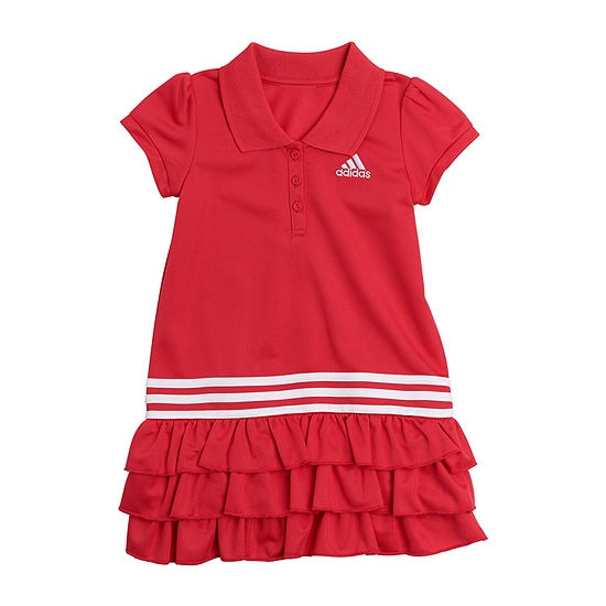 adidas Baby Girls Short Sleeve A-Line Dress