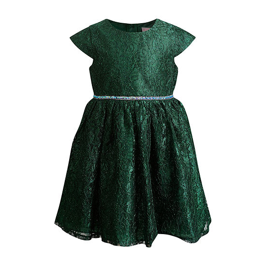 Youngland Little Girls Cap Sleeve Party Dress