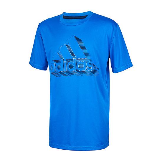 adidas Little Boys Round Neck Short Sleeve Graphic T-Shirt