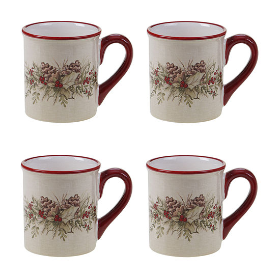 Certified International Holiday Traditions 4-pc. Coffee Mug