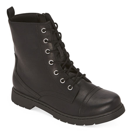 80s Shoes, Sneakers, Jelly flats  1980s Shoes Arizona Womens Queen Combat Boots Flat Heel 6 12 Medium Black $39.99 AT vintagedancer.com