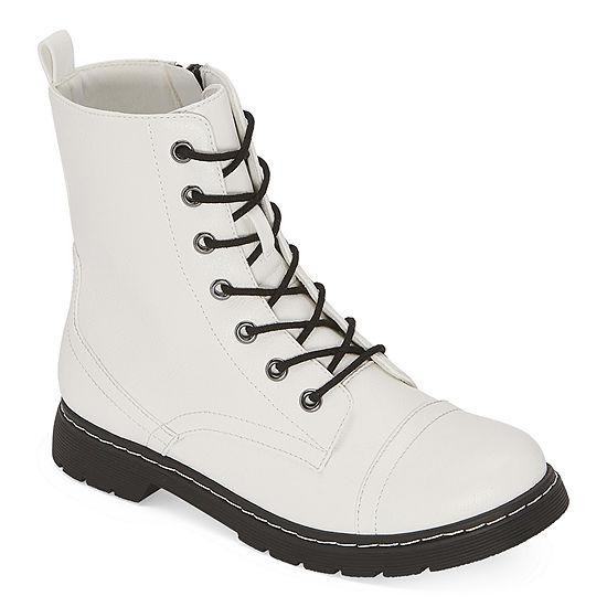 Arizona Womens Queen Combat Boots Flat Heel