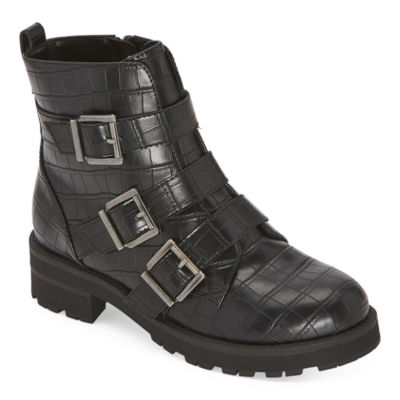 Arizona Womens Tune Combat Boots Block Heel