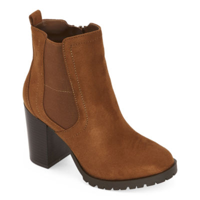 a.n.a Womens Rancho Motorcycle Boots Block Heel